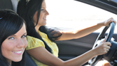 Woman in Car Driving - Driver Training